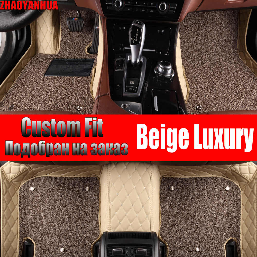 ZHAOYANHUA car floor mats for Toyota Corolla RAV4 Prius Prado Sienna zelas leather Anti-slip car-styling carpet liner
