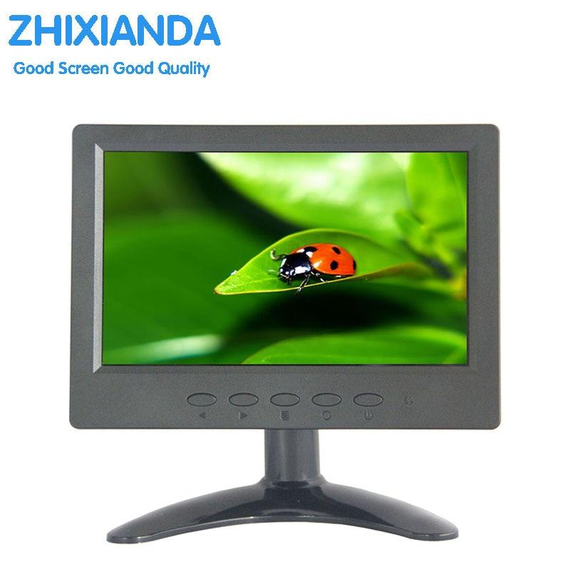 ZHIXIANDA 7 inch 1024x600 16:9 AV BNC VGA HDMI signal portable mini LCD screen monitor 7 inch mini lcd tv monitor zgynk 9 7 inch open frame industrial monitor metal monitor with vga av bnc hdmi monitor