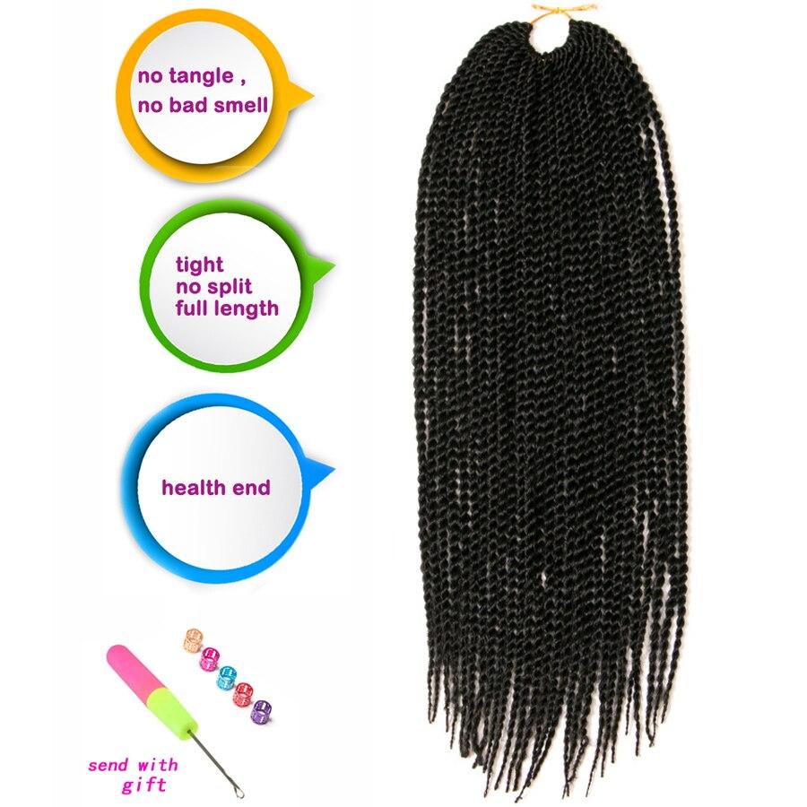 VERVES Ombre Crochet Braids 1 pack, 30 strands / pack 18 '', små - Syntetiskt hår - Foto 3
