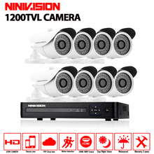 8CH 1080N HDMI 1080P DVR 1200TVL HD Outdoor Surveillance Security Camera System 8 Channel CCTV DVR Kit AHD Camera Waterproof Set