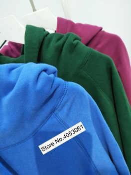 Green/Blue/Rose Red Cotton Blend Letter Print Fleece Hooded Sweatershirt - Fall/Winter/Spring Women Letter Printed Pullover