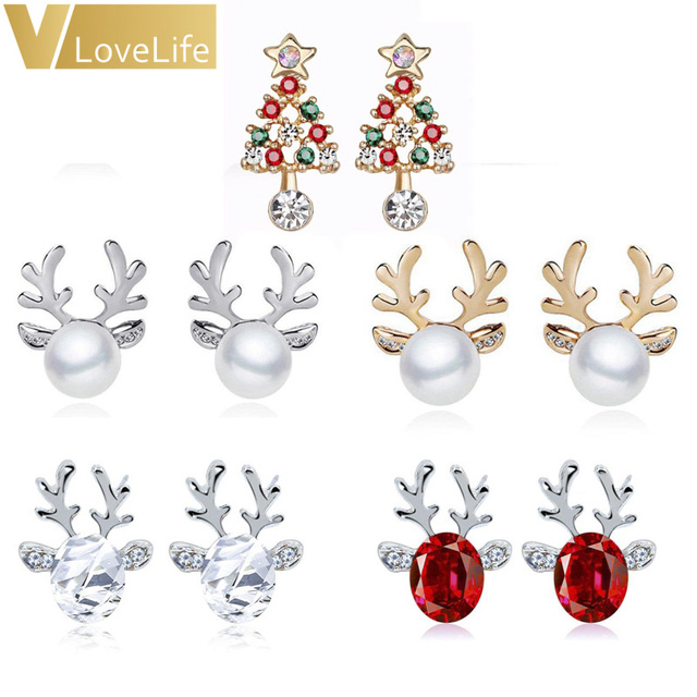 Pearl Deer Earrings