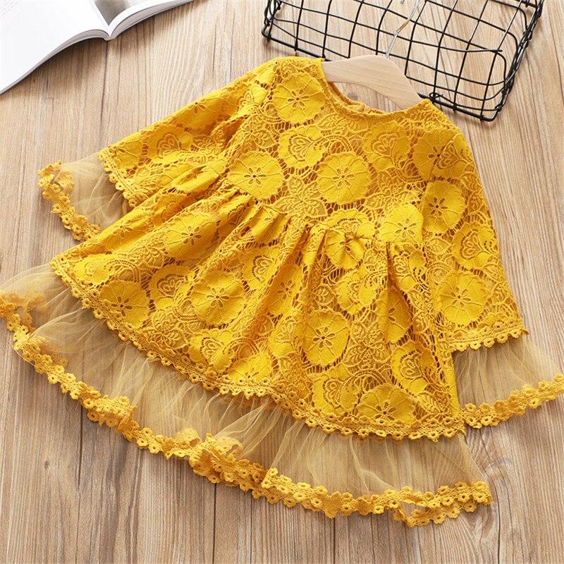 2-7 años Niñas Ropa 2018 primavera otoño nueva moda flor princesa vestido niños vestido Niñas Ropa niñas vestido