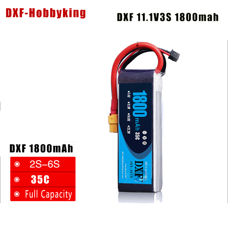 2017 DXF High Quality 11.1v <font><b>1800mAh</b></font> <font><b>3S</b></font> 35C <font><b>LiPo</b></font> Battery For RC Helicopter RC Car Boat Quadcopter Remote Control Toys Parts image
