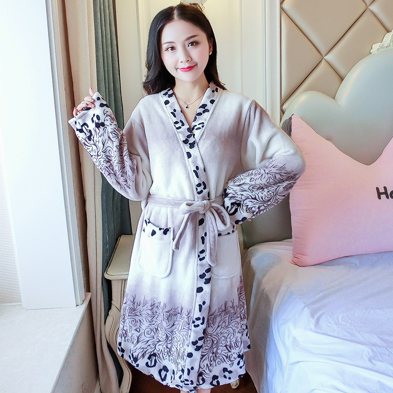 Best Deal 84c0 Cartoon Lovely 2018 Thicken Nightgowns
