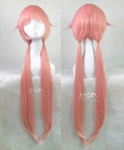 Hot sale Mirai Nikki hair accessories 100cm 330g synthetic hair jewelry for Gasai Yuno pink cosplay wigs