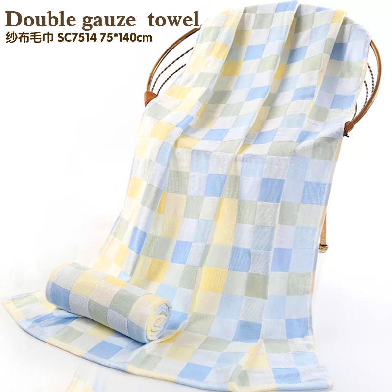 Двойное марлевое банное полотенце Голова мультяшного изображения тонкое полотенце Не уронить Мао Цюань хлопковое банное полотенце