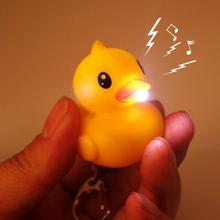 2016 So Cool !!! Ultra Bright LED Cute Mini Duck Electronic Keychain Action Figu