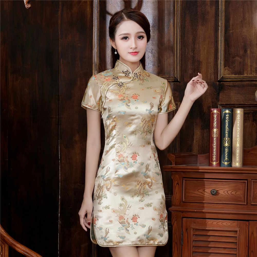 בתוספת גודל 3XL 4XL 5XL 6XL סיני Qipao קלאסי נשים סאטן Cheongsam למזרח כלה שמלות 2020 חדש ערב המפלגה שמלת