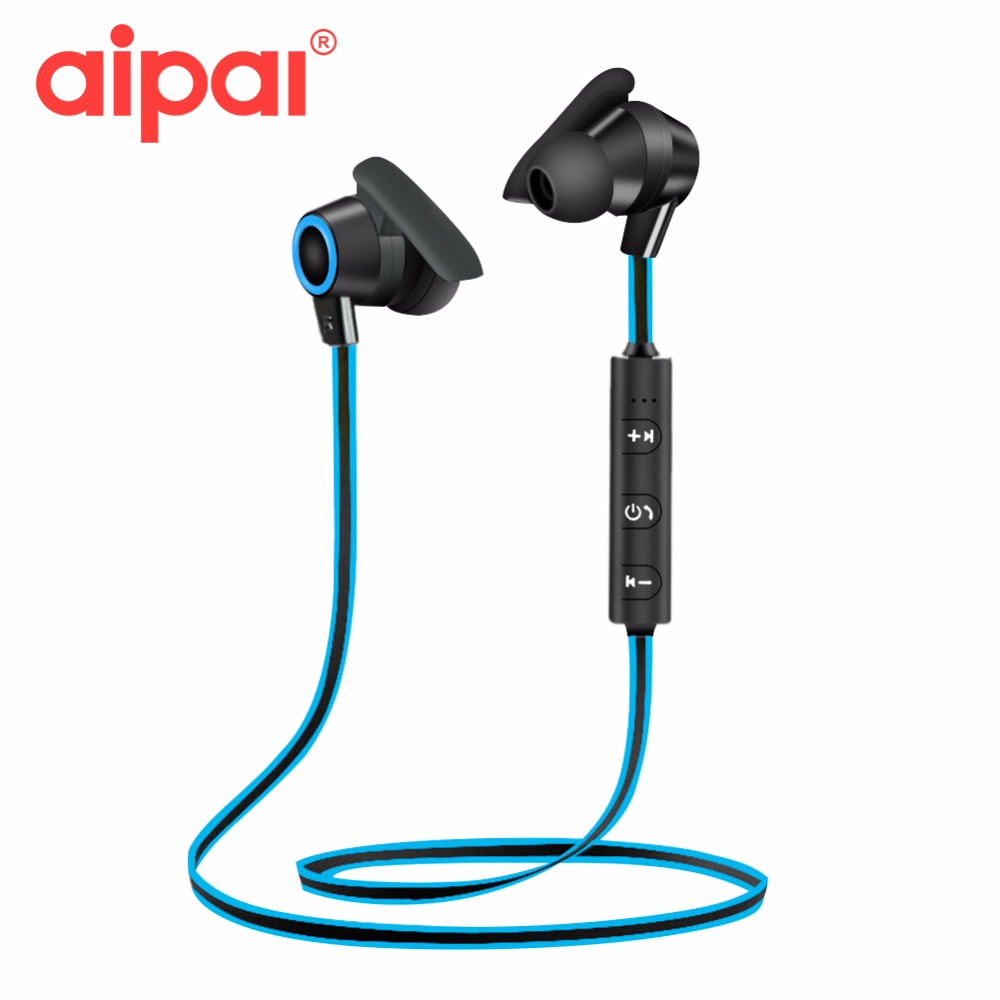 AIPAL Sports Bluetooth Earphone Wireless In-ear Headsets Stereo Sweatproof Earphone With Microphone Headphone For Xiaomi Iphone nameblue st 33 sports bluetooth v4 0 in ear earphone headphone set w microphone volume control