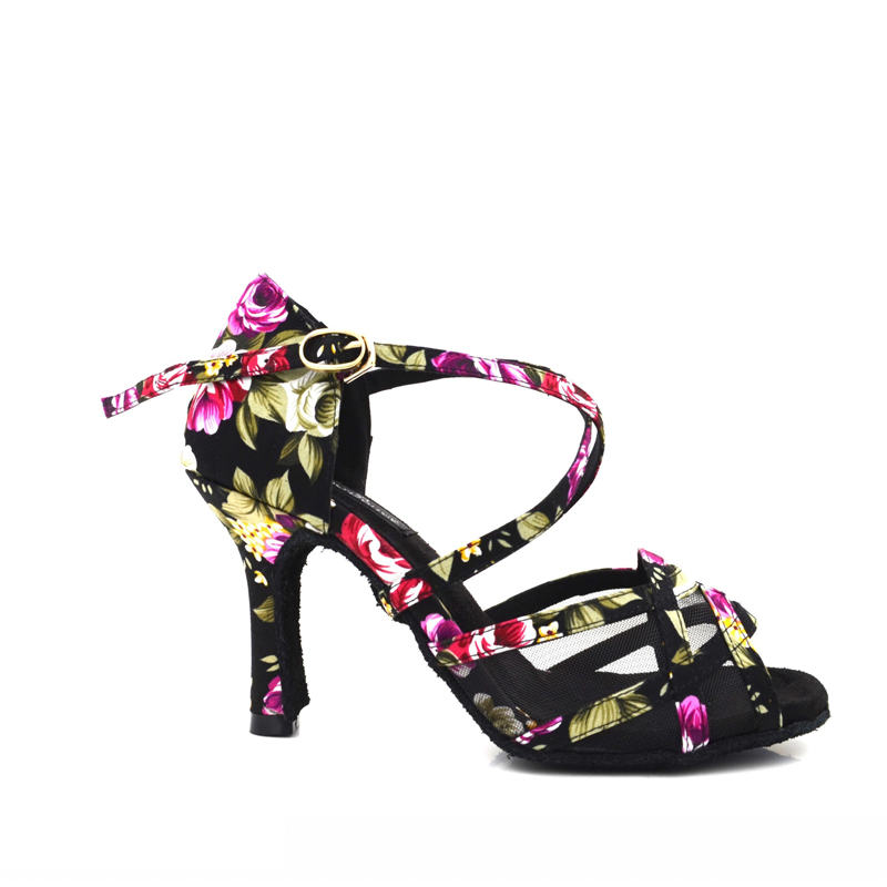 f4e688397 2017 evkoo Dancing Shoe girls Satin latino Zapatos 8.3 8cm High Heel ladies  Salsa Ballroom Latin Dance Shoes For Women Evk 428-in Dance shoes from  Sports ...