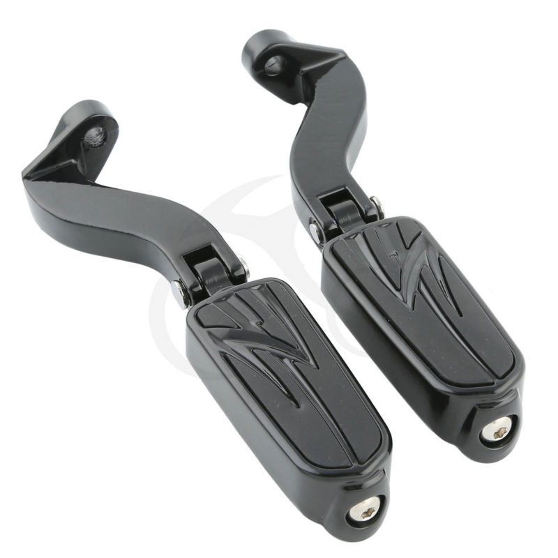 Male Mount Foot Pegs Footrests W/ Brackets For Harley Touring Glide 1993-2016