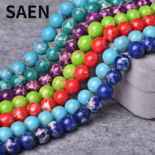 SAEN Natura Imperial Jaspers Stone Beads fashion beads for jewelry making wholesale jewelry lots crystal fashion accessories