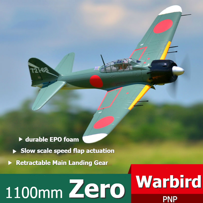 FMS 1100MM 1 1M Zero Fighter A6M5 RC Airplane Japanese Warbird PNP with Retracts 3S EPO