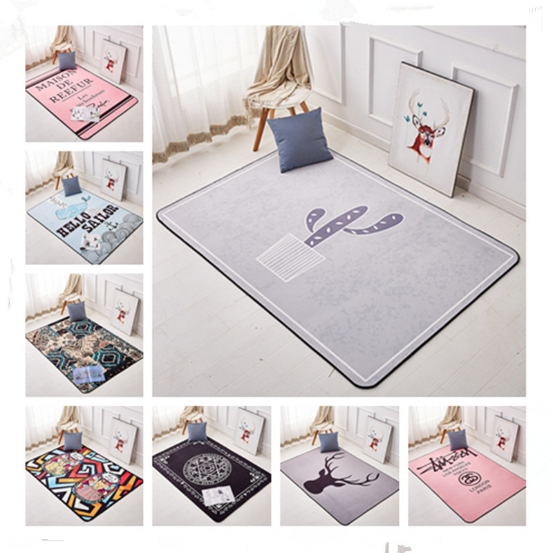14style Baby Play Mats Letters Animals 3D Printed Non-slip Suction Floor Pad Carpet For Living Room Kids Bedroom Antiskid Mat