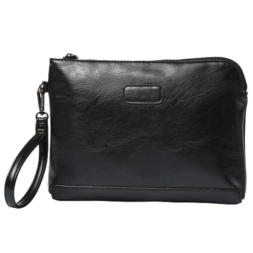 PU Leather Men's Business Casual Mobile Phone Bag Handbag Envelope Bag 28 * 21 * 1cm
