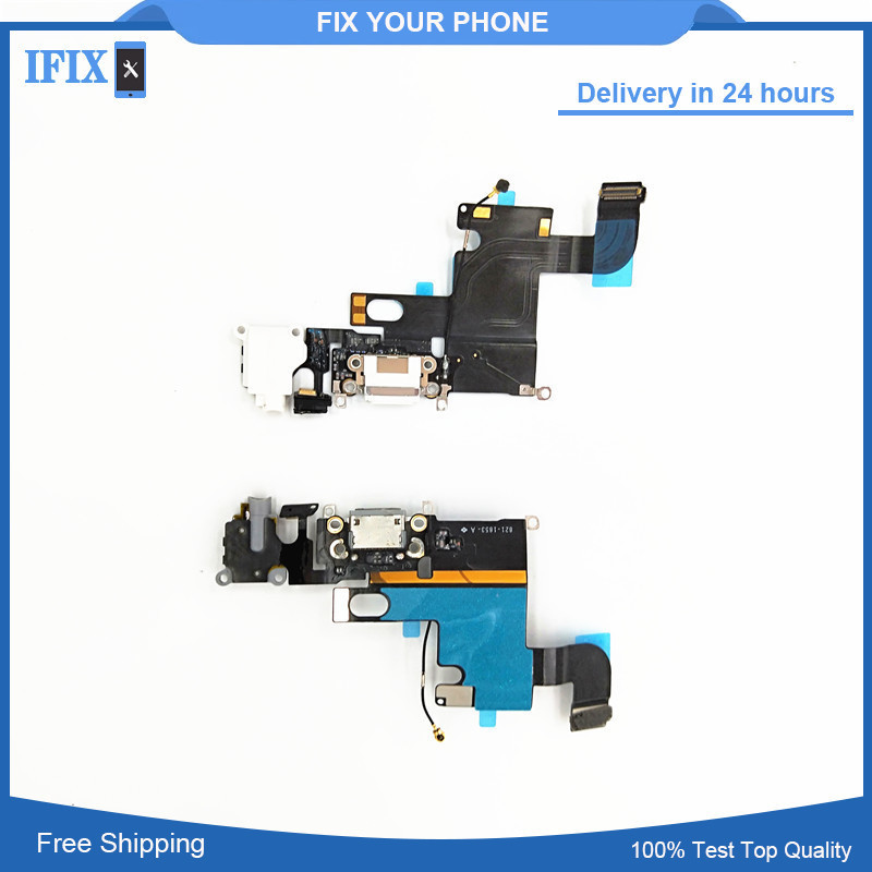 For IPhone 6 Original Charging Charger Port USB Dock Connector Flex Cable With Headphone  Audio Jack High Quality