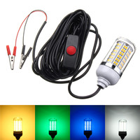 Super 7W 2835 SMD 108 LED Lamp Bulb With Switch IP68 Waterproof LED Underwater Fishing Squid