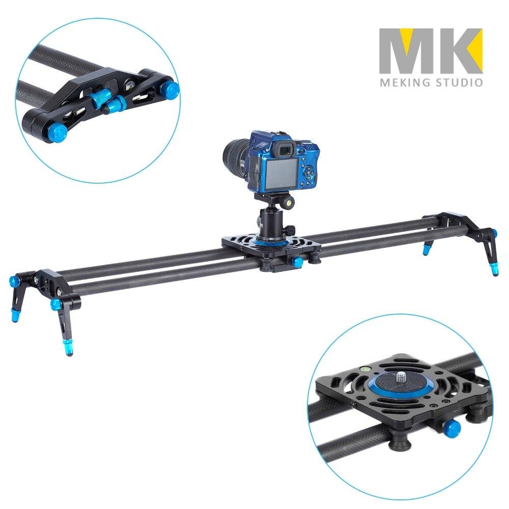 Meking 80cm 100cm 120cm Carbon Fiber rails shooting slider Dslr Camera Slider Rail Track Dolly Video Stabilization цена и фото
