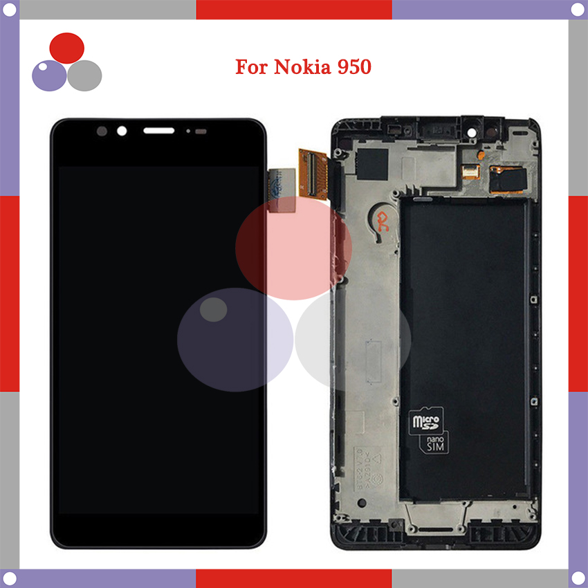 10pcs/lot 5.2'' For Nokia <font><b>Lumia</b></font> <font><b>950</b></font> RM-1104 RM-111 LCD Digitizer Assembly Touch Screen Digitizer Assembly Replacement <font><b>Parts</b></font> image