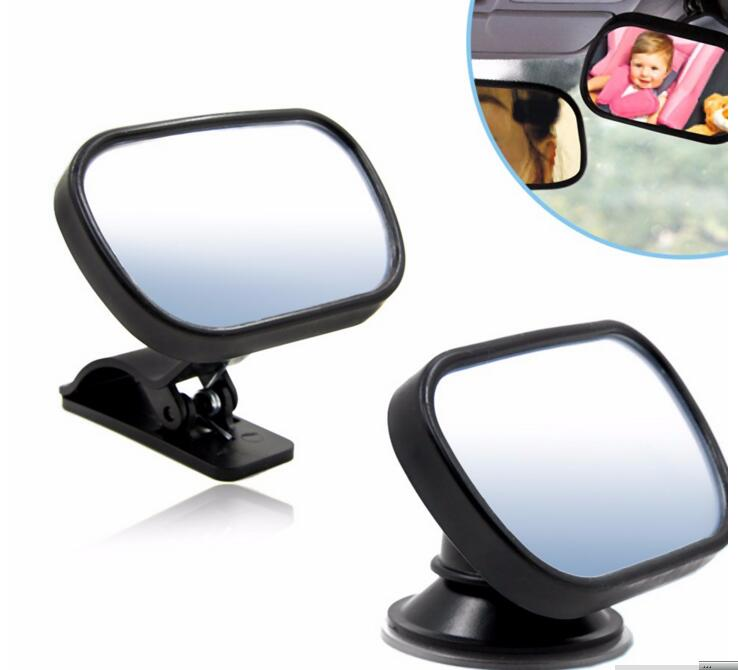 5pcs/lot 2 in 1 Mini Safety Car Back Seat Baby View Mirror Adjustable Baby Rear Convex Mirror Car Baby Kids Monitor
