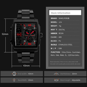 Image 3 - SKMEI 탑 럭셔리 브랜드 남자 스포츠 시계 방수 전자 LED 디지털 손목 시계 남자 시계 Relogio Masculino