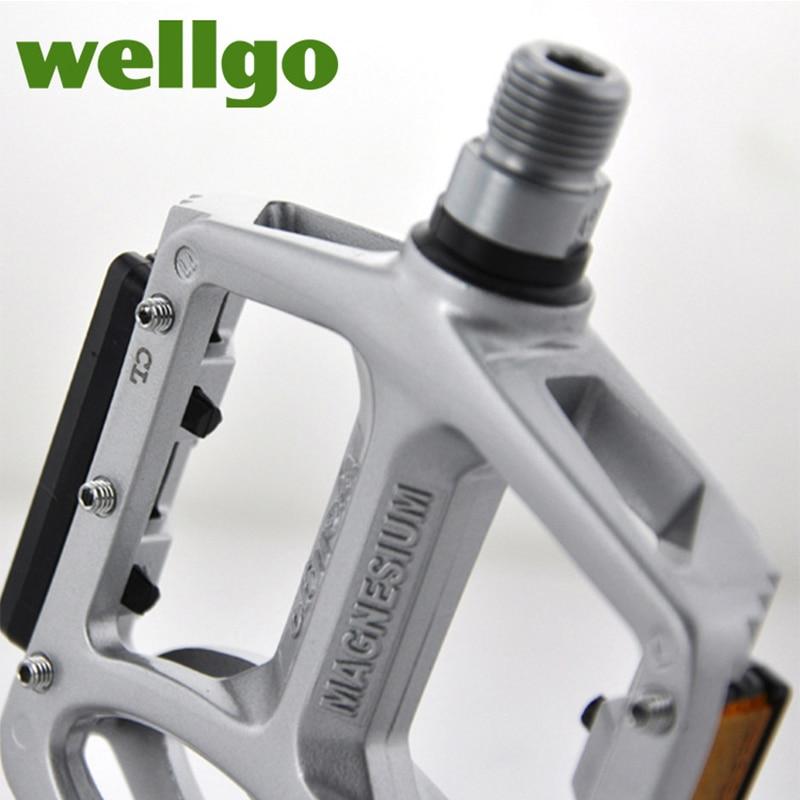Pédales vtt Wellgo 2 pédales de vélo à roulements scellés pour pédales de VTT de route bmx larges pédales de cyclisme en alliage de magnésium MG-1 - 4