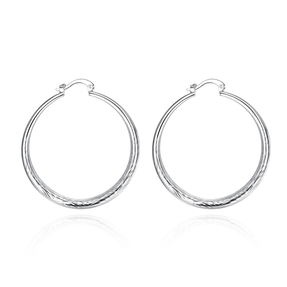 925 Silver Earrings Round Fish Ear Ring Fashion Silver Ear Ring Factory Price 925 Stamped Fashion Jewelry Smooth Round Earrings
