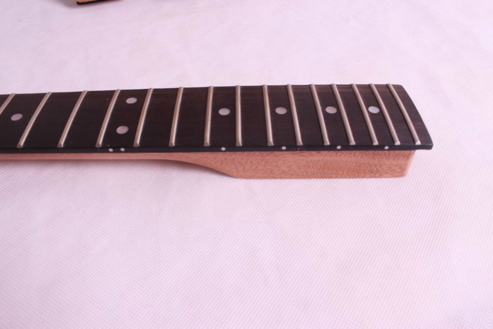 5 pcs unfinished electric guitar neck mahogany made and rosewood fingerboard Bolt on 22 fret one left unfinished electric bass guitar neck solid wood 22 fret new rosewood fingerboard maple made