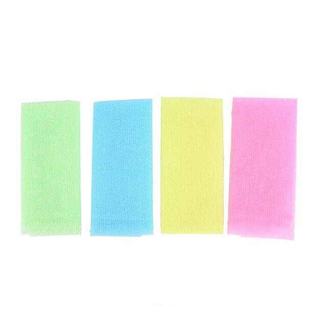 Nylon Japanese Exfoliating Beautiful Skin Bath Shower Wash Cloth Towel Back Scrub Body Cleaning Washing Sponges& Scrubbers 4