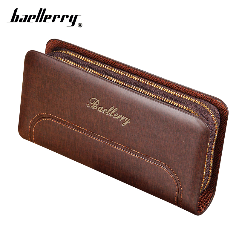 Business Men Wallets Double Zipper Male Wallet Leather Men Clutch Bag Long Men Purse Wristlet Big Capacity Man Wallet Phone Bag high quality leather men s clutch wallets wholesale leather clutch bag zipper coin bag men big wallet wholesale drop shipping