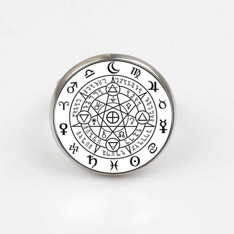 Sigil שחור קסם כישוף כוח של שלושה הצהרת טבעת כסף טבעת עבור נשים שמלה אבזרים