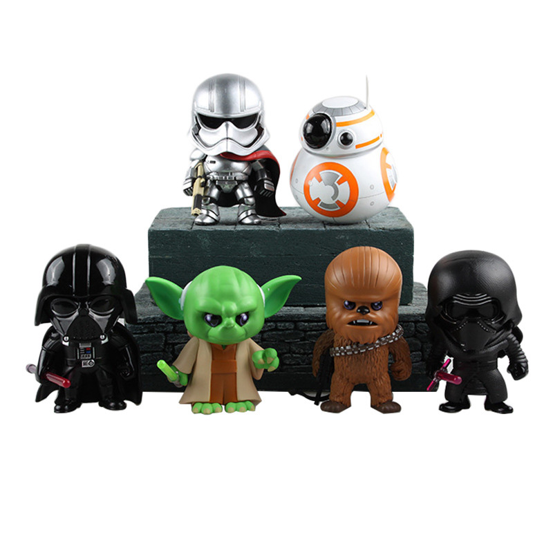 Funko POP Star Wars: The Force Awakens Master Yoda Darth Vader BB-8 Action figure toys Doll Collectible Model toys for chlidren 10cm nendoroid star wars toy the force awakens stormtrooper darth vader 501 502 pvc action figure star wars figure toys
