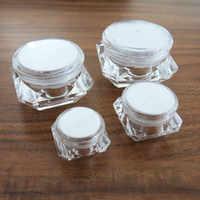 Tarro de plástico transparente portátil para brillo para decoración de uñas, mini frasco de plástico transparente de 50X, 5g, 10g, 15g, 30g, crema para maquillaje, contenedor cosmético