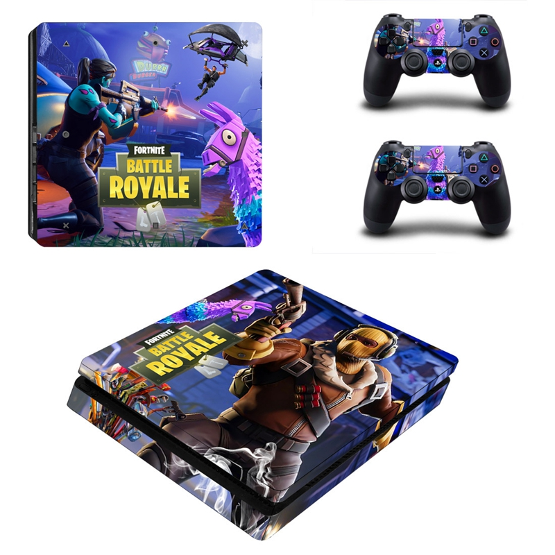 HOMEREALLY Stickers Game Fortnite Decal Sticker For Playstation 4 Slim Console and Controller PS4 Slim Skin Sticker Accessory