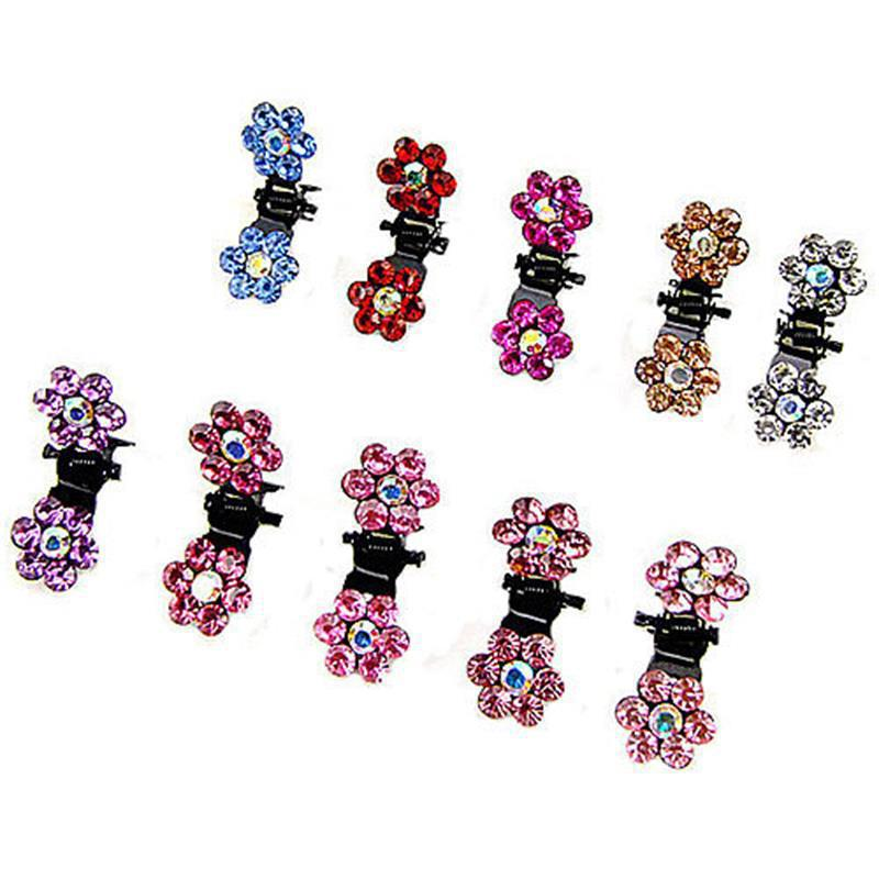 50pcs / lot Charming Candy Colors Small Hair Claws for Girls Hairpin Accessories Kind of Cute Design Hairpins Crab claw clip