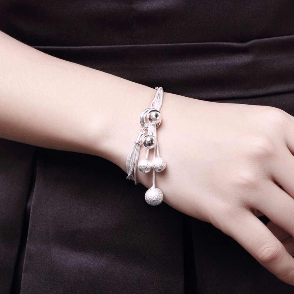 N925 couleur argent sterling haute qualité cinq fils perles nouvelles dames bijoux de mariage cadeau de fête trois pièces AKS0001