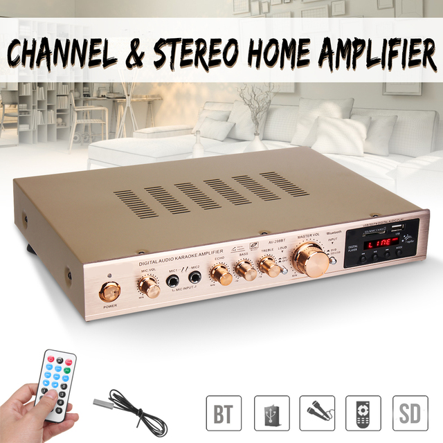 Cheap 720W 5 Channel Home Amplifier Audio Digital Auto Car AV HiFi Class Power Amplifiers Stereo Sound FM Radio Player Aluminum Alloy
