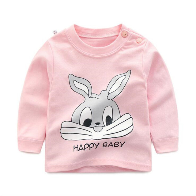 Luna Blanco Baby's T-shirt cotton Cartoons Autumn Unisex Long Sleeve Newest T-shirt O-neck Cute Lovely Baby Clothing T-shirts