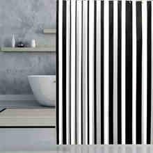Marke Neue PEVA Bad Vorhang Luxus Weiß und Schwarz Streifen Wasserdichte Bad Duschvorhang mehrere multi größe