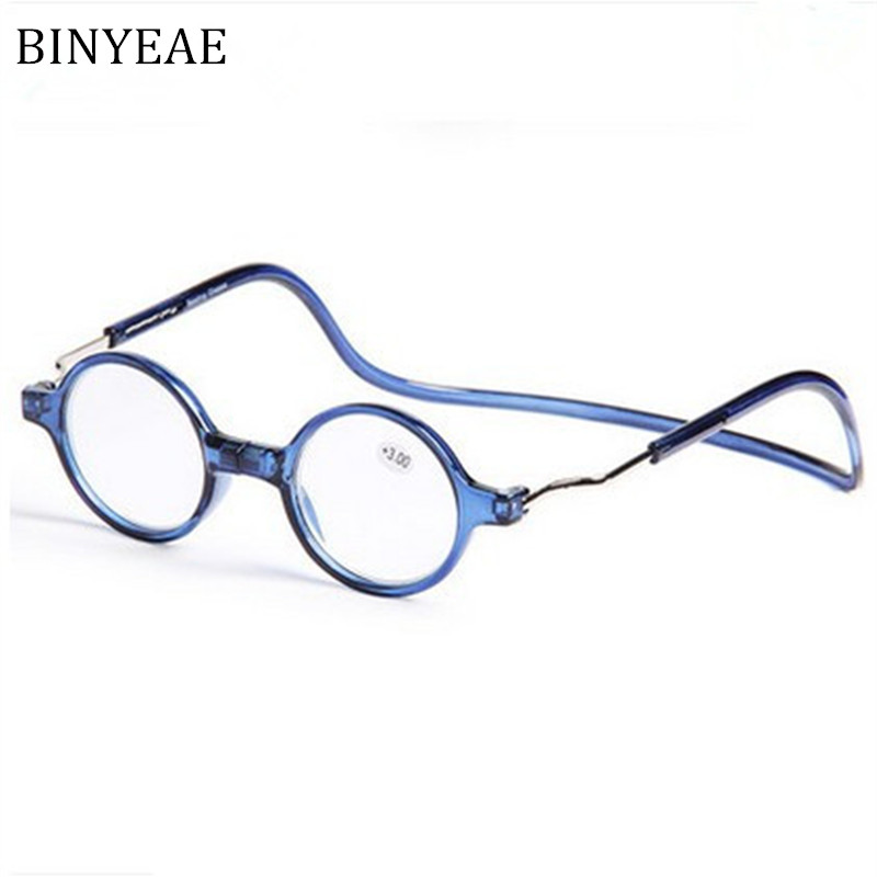BINYEAE Ronde Aimant Lecture Verre Hommes et femmes suspendus cou lunettes  de lecture 183f5ee2848b