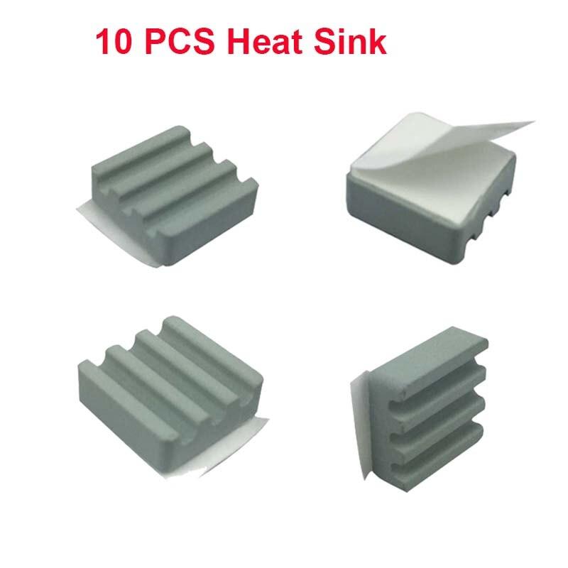 10 PCS Raspberry Pi 3 Heat Sink Ceramic Heat Sinks CPU Cooling Heatsink  Dissipador For Orange Pi Raspberry Pi 2 B/B+