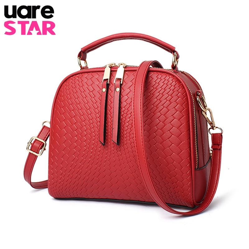 Fashion Knitting Lines Women Crossbody Bags Small Handbags Leather Famous Brand Female Shoulder Bag Two Zipper Pockets