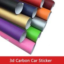 цена на Car PU Body Film 3D Carbon Fiber Film Twill Weave Vinyl Sheet Roll Wrap