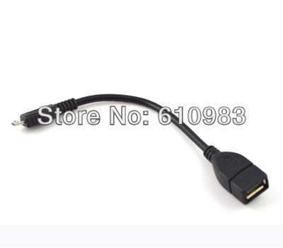 Freeshipping (5 pieces/lot) Micrp 5 pin plug to OTG female host data cable for GALAXY GS2 GS II I9100 MOTO XOOM TG01
