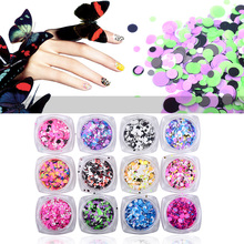 1pcs Colorful Round Ultrathin Sequins Nail Art Glitters Mix Sizes Charm 3d Design Nail Tips Decoration Manicure Tools