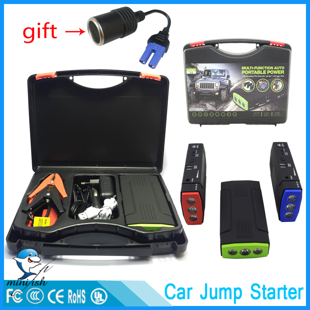 Mini Portable Car Battery Charger Starting Car Jump Starter Booster Power Bank For A 12V Auto