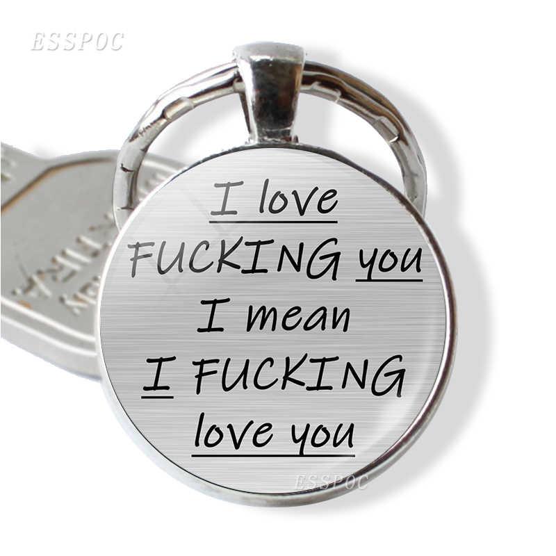 Você é O Meu Favorito Idiota Das Citações do Amor Romântico Carta Pingente de Chave Chave Anéis Da Cadeia Chaveiro Casal Jóias Dia Dos Namorados presente