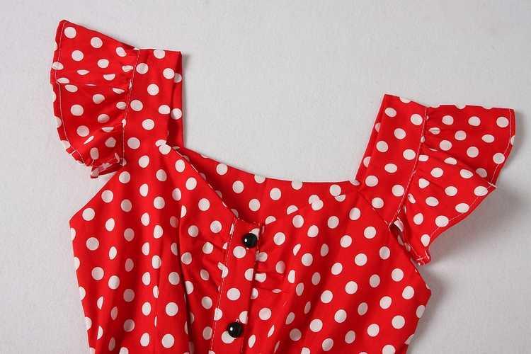 ALPHALMODA 2018 новая рубашка в горошек платье с карманами рукав-лепесток однобортные тонкие ленты женские модные летние платья