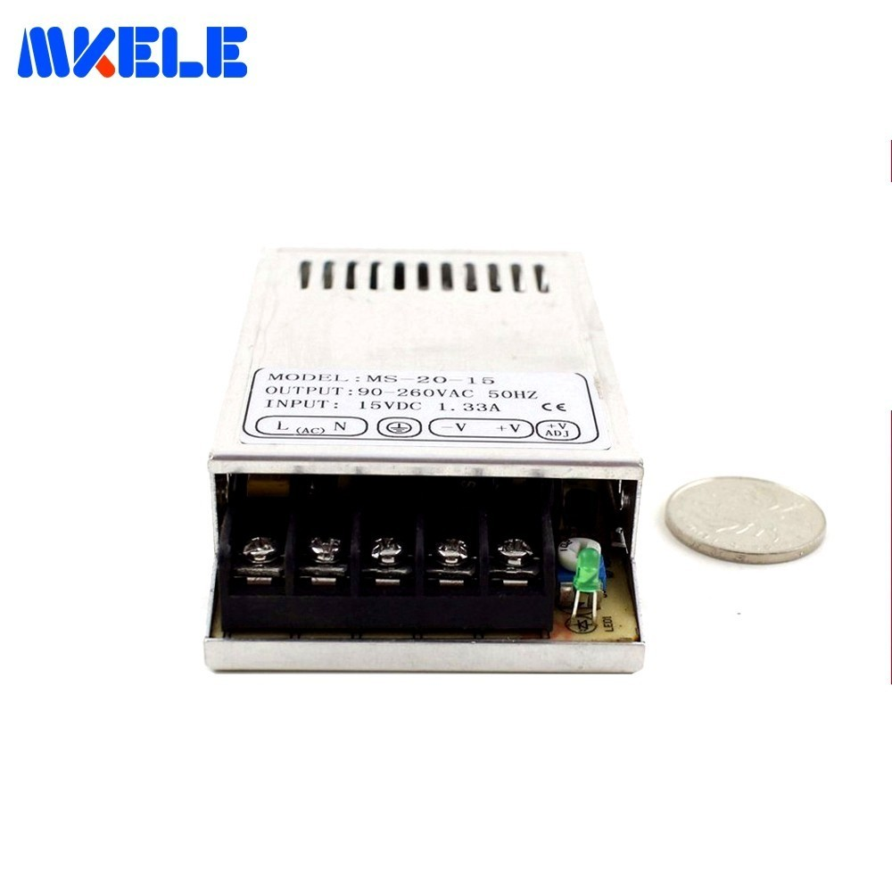 Miniature Smps CE 110V 220V AC To DC 48V MS-20-48 0.4A 20W Mini Switching Power Supply For Led Strip Light Free Shipping